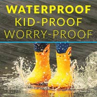 Luxury Vinyl that's Kid-Proof, Waterproof and Worry-Proof! Stop by today to see our selection!
