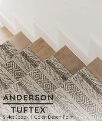 Anderson/Tuftex Speak Desert Palm Stair Carpet Roomscene